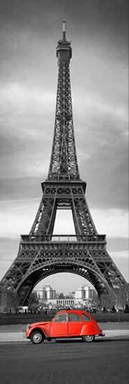MA-7039 Paris---Eiffel-Kulesi-&-Kırmızı-Araba