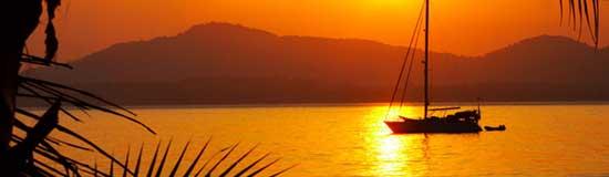 MA-7069 Günbatımında-Tekne